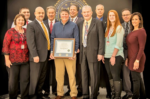 FBI CJIS Division Presents Director's Community Leadership Award to Drug Free Clubs of America